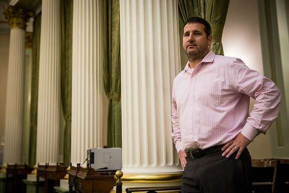 Greg Campbell, who is leaving the Assembly after an 18-year career in which he rose from a student intern who answered phones and opened mail, to the chamber's most powerful staff member.    Greg Campbell poses for a portrait at the State Capitol in Sacramento, California, December 8, 2015.