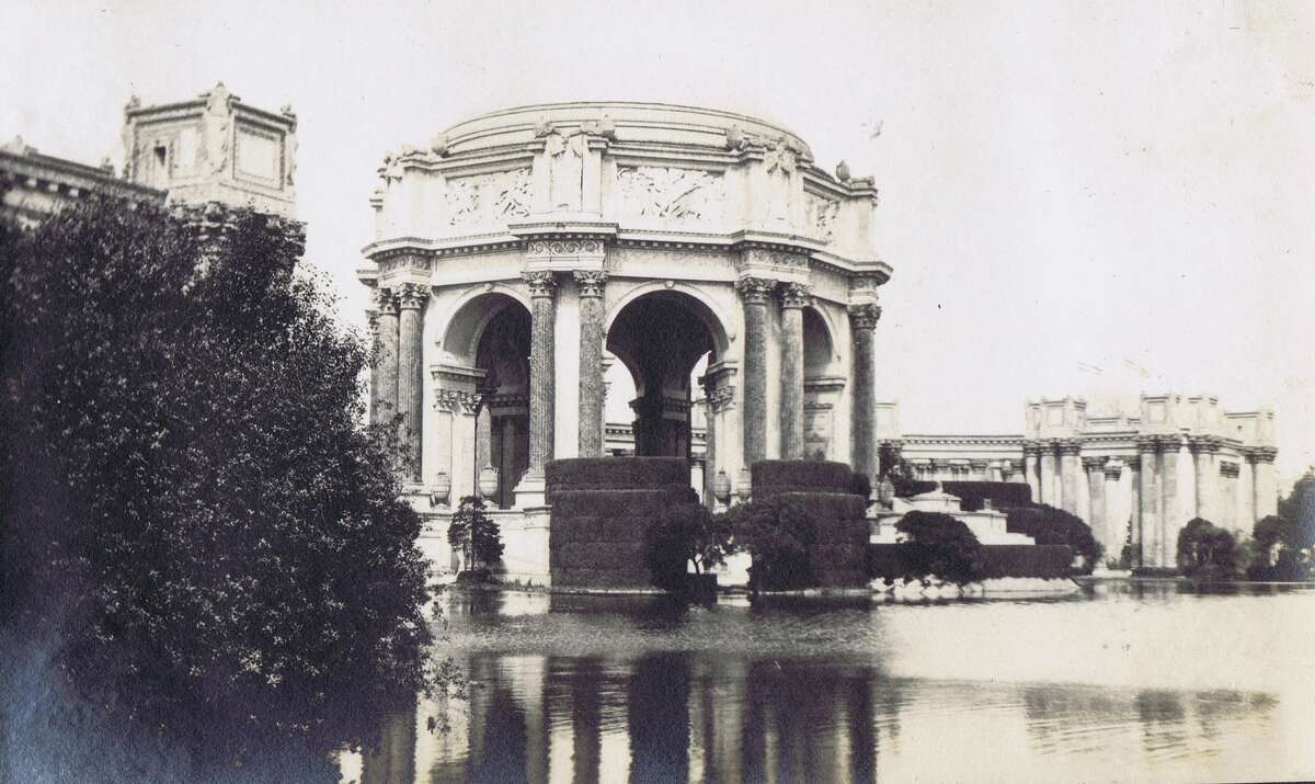 Panama-Pacific International Exposition family album photo, in 1915. The Palace of Fine Arts (The only buidling still standing from the site) From the collection of Bob Bragman