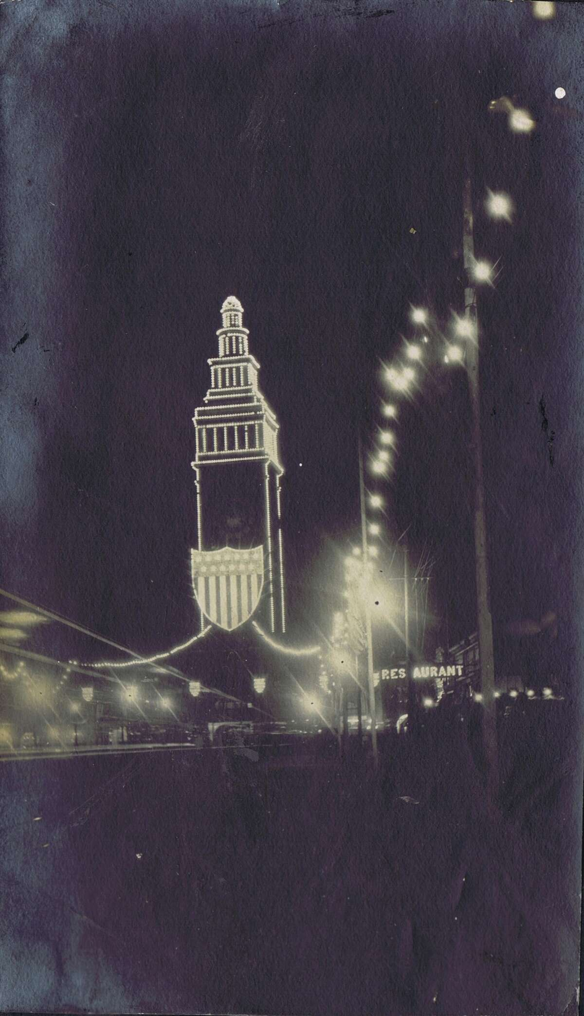 """Panama-Pacific International Exposition family album photo, in 1915. This is theFerry Building,""""Identification by Laura A. Ackley"""". From the collection of BobBragman"""