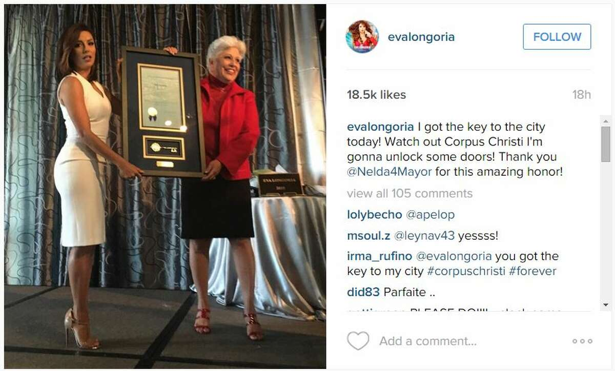 Actress and philanthropist was in Corpus Christi this week to receive honors from the mayor and spend some quality time in her hometown.
