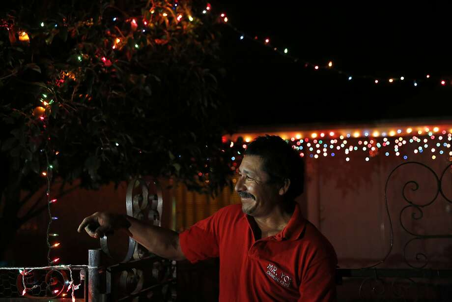 Mart'n Hernandez Mena, 50, poses for a portrait in front of his nephew's house Dec. 7, 2015 in Mendota, Calif.  Photo: Leah Millis, The Chronicle