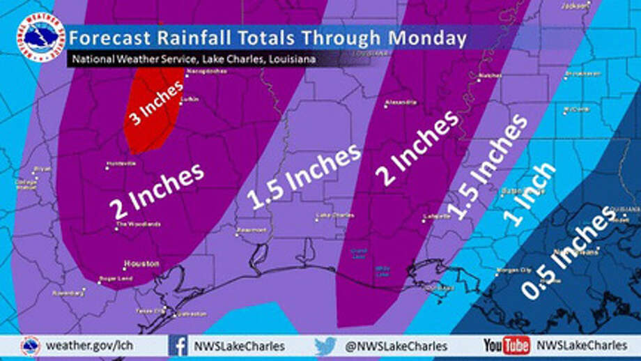 Rainfasll forecast through Monday December 14th courtesy NWS