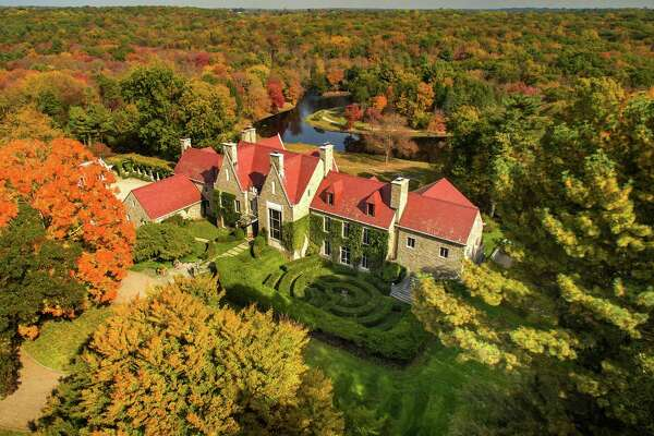 The Hillandale Estate, located at 1233 Rock Rimmon Road in Stamford, is on the market for $75 million. Listed by Sotheby's International Realty, the 262-acre property is the home of late travel agency mogul Gilbert Haroche and his wife.