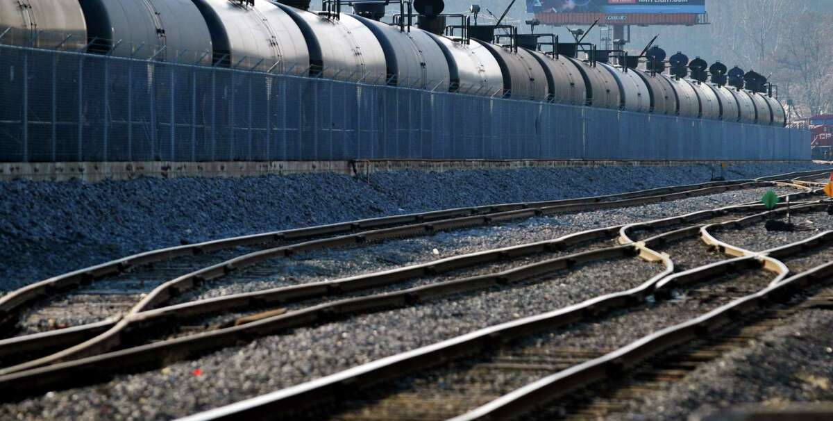A view of tank rail cars at the Port of Albany on Thursday, Dec. 10, 2015, in Albany, N.Y. (Paul Buckowski / Times Union)