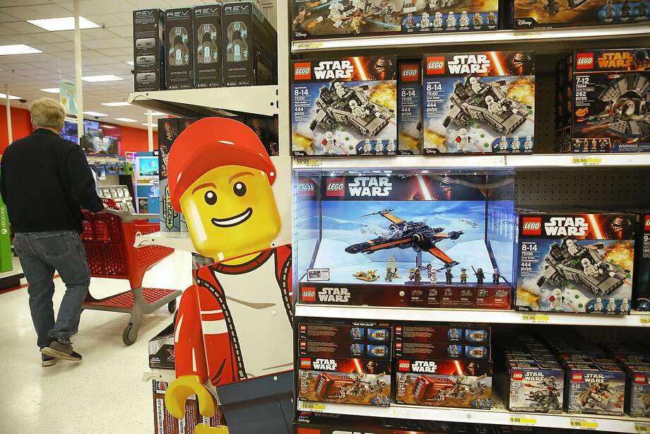 Star Wars Legos displayed at Target in Colma, California, on Thursday, December 10, 2015. Photo: Liz Hafalia, The Chronicle