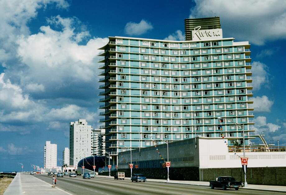 The Hotel Habana Riviera was built by mobster Meyer Lansky on the Malecon coastal road in Havana, Cuba circa 1959.