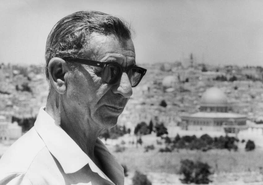 Russian-born criminal Meyer Lansky (1902-1983) standing outdoors and wearing sunglasses at Mount Olive, Israel. Lansky fled to Israel in 1970, to avoid charges of tax evasion, but was later captured. He was a high ranking mafia figure.