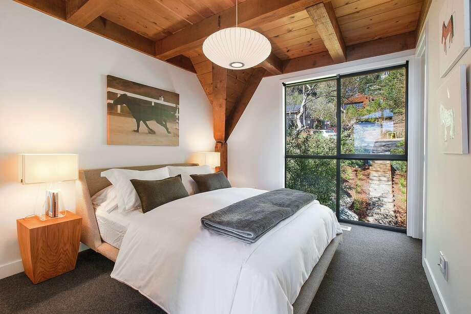 All three levels of the Muir Beach home offer a sleeping area. Photo: Open Homes Photography