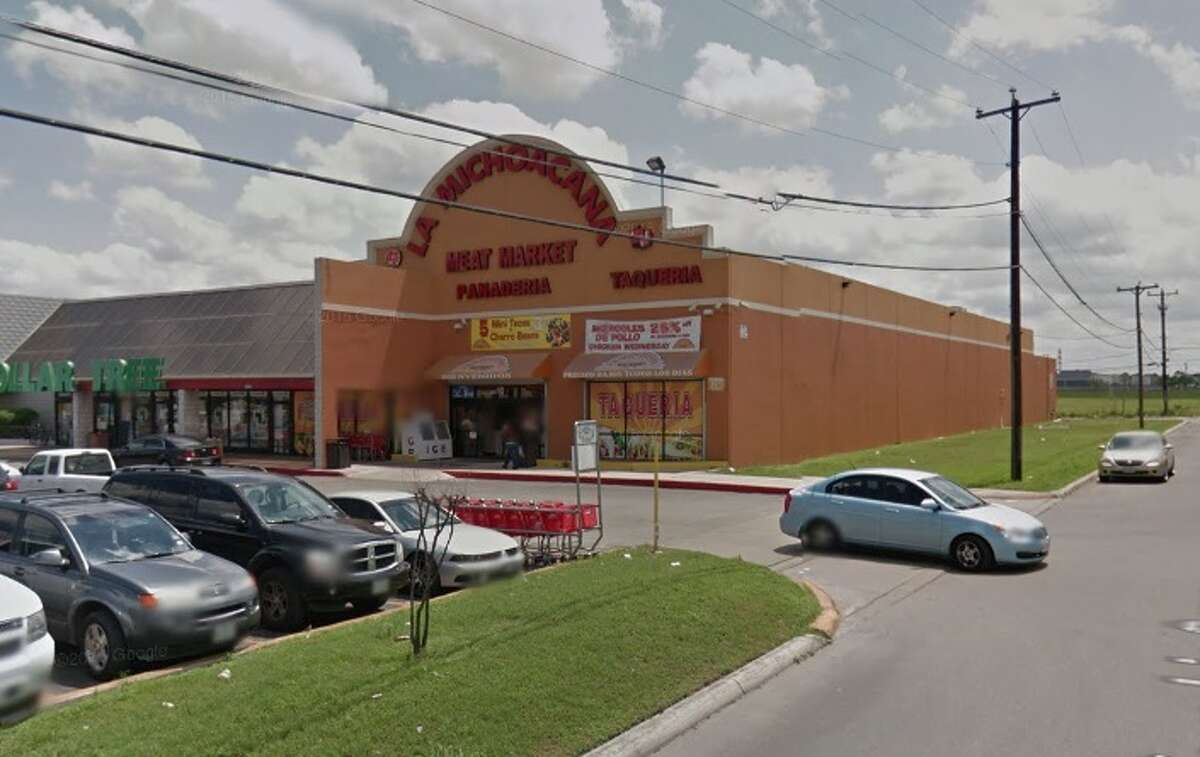 """La Michoacan Meat Market: 8260 Marbach Road, San Antonio, Texas 78227Date: 12/05/2016 Score: 72Highlights: Inspector """"observed employees delivering large pig carcasses into establishment that carried them without any coverings on their shoulder,"""" inspector """"observed live rodent stuck on sticky trap behind bakery display,"""" food not protected from cross contamination (raw meats stored above ready-to-eat food items in butcher and kitchen walk-in coolers), inspector """"observed a bottle labeled sanitizer being used for water"""" to process meat."""