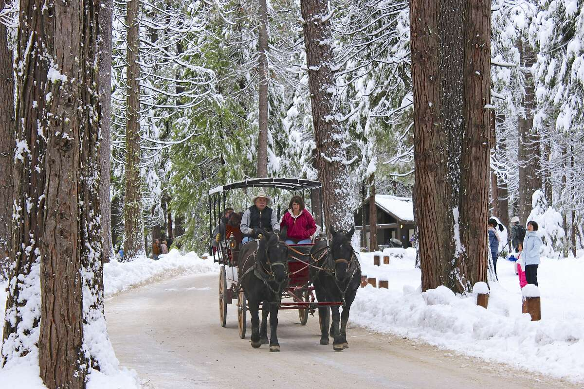 Snowy sleigh ride If you're stuck in rush hour traffic on your way to work, snow is a nightmare. When you're in love, it's magical. Take advantage of the beauty of winter in Connecticut with a horse-drawn carriage ride on farm. Find out more.
