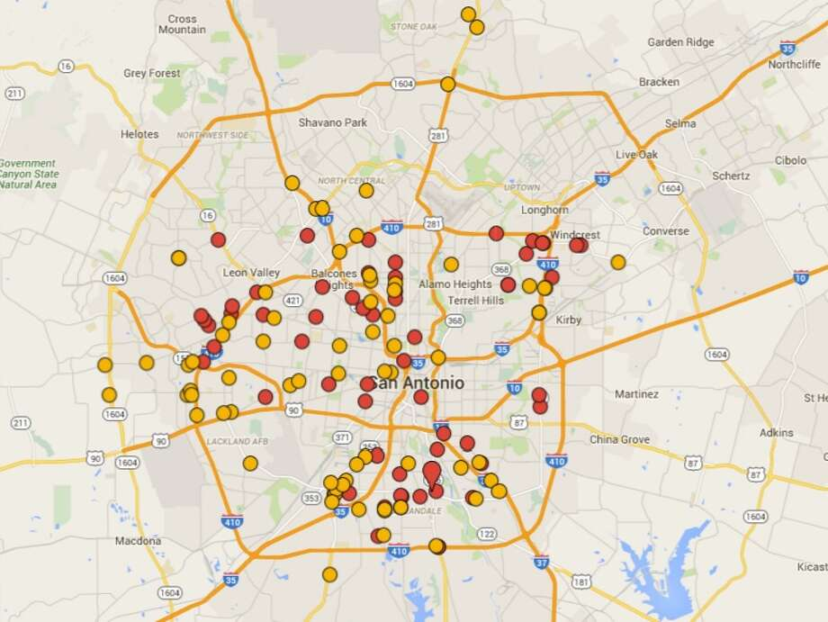 These are the San Antonio restaurants cited with 14 or more demerits in October, November and December of this year.Click ahead to see the spots cited with the highest number of violations over the past week. Photo: Google Maps