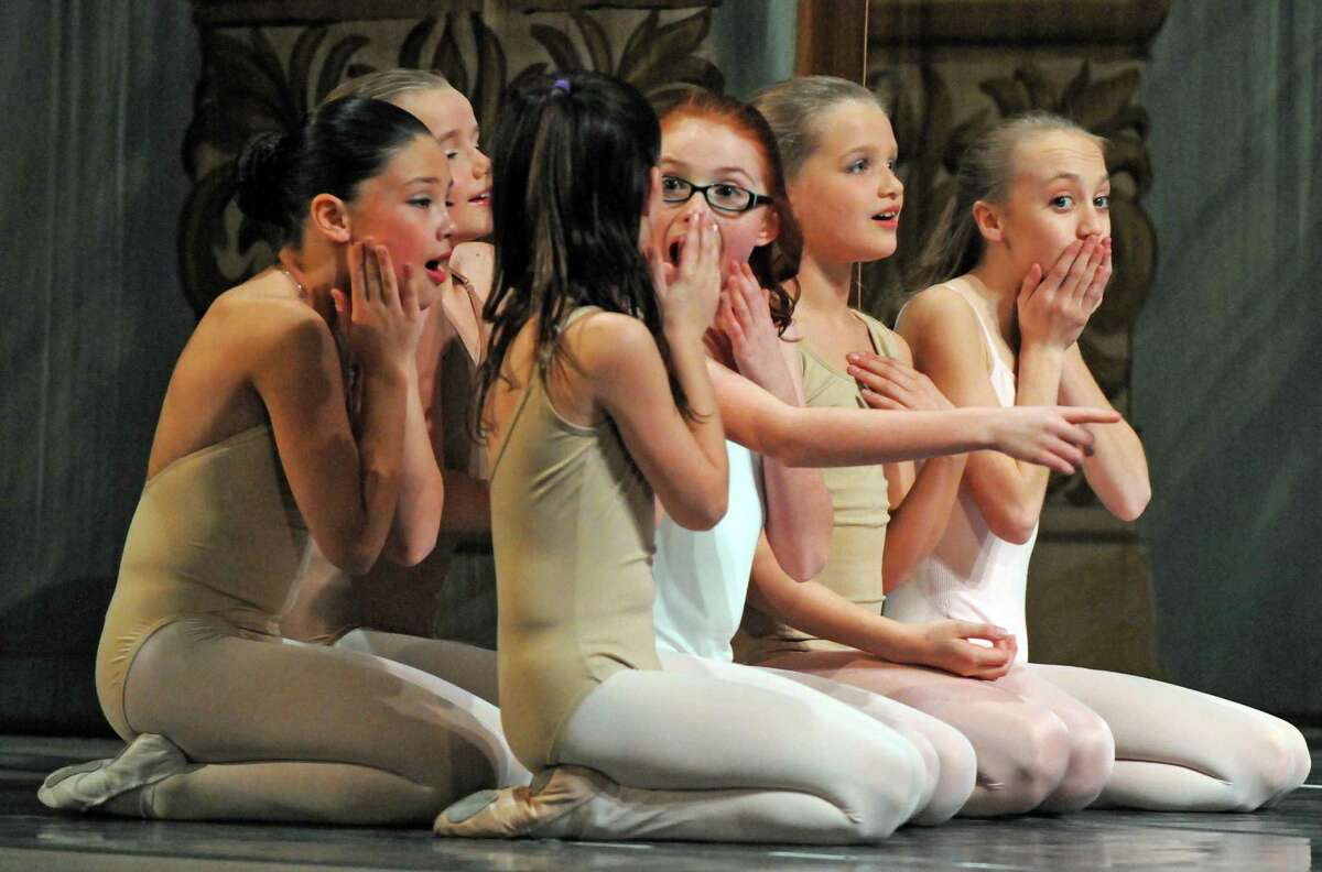 Local young dancers rehearse with the Moscow Ballet for a performance of The Nutcracker at the Palace Theatre on Thursday Dec. 10, 2015 in Albany, N.Y. (Michael P. Farrell/Times Union)