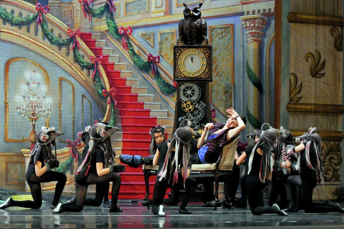 Ballet soloist and children's rehearsal director Olga Aru directs as local young dancers rehearse with the Moscow Ballet for a performance of The Nutcracker at the Palace Theatre on Thursday Dec. 10, 2015 in Albany, N.Y. (Michael P. Farrell/Times Union)