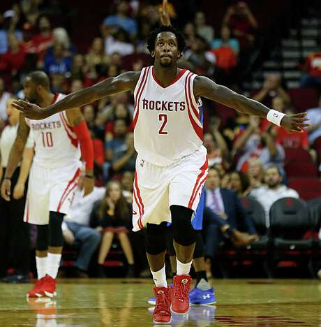 Rockets guard Pat Beverley has scored in double figures in six consecutive games, a stretch during which he has made 17 of 36 3-point attempts. Photo: James Nielsen, Staff / © 2015  Houston Chronicle
