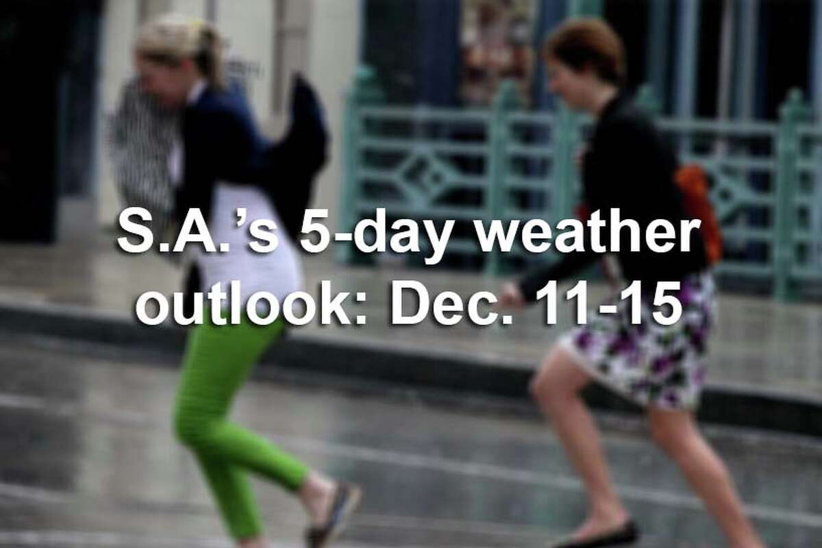 San Antonio's 5-day weather outlook, according to the National Weather Service.
