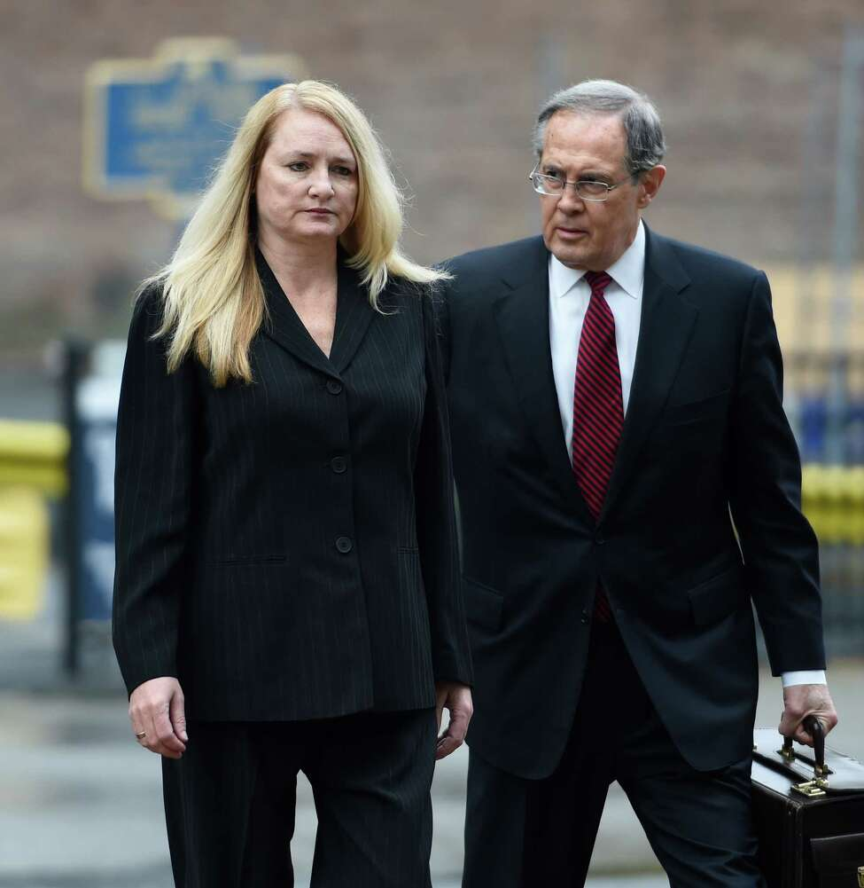 Mindy Wormuth arrives with her attorney E. Stewart Jones at Federal Court for sentencing Thursday morning Dec. 10, 2015 in Albany, N.Y. (Skip Dickstein/Times Union)