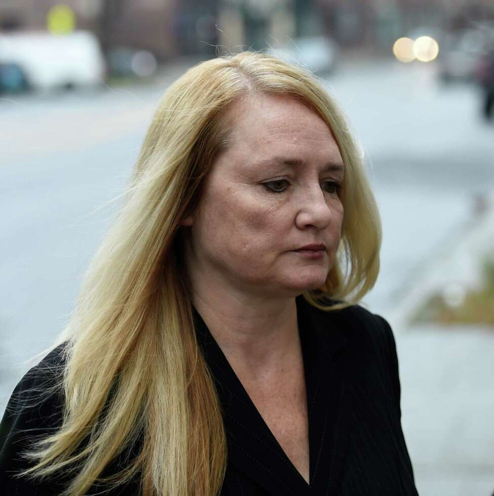 Mindy Wormuth arrives at Federal Court for sentencing Thursday morning Dec. 10, 2015 in Albany, N.Y. (Skip Dickstein/Times Union)