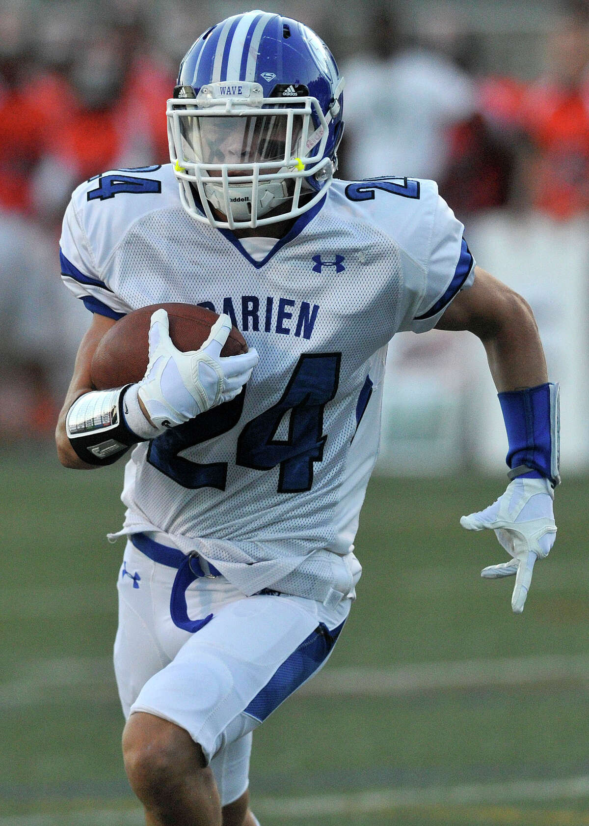 Christian Trifone is one of the stars in the defensive backfield for Darien.