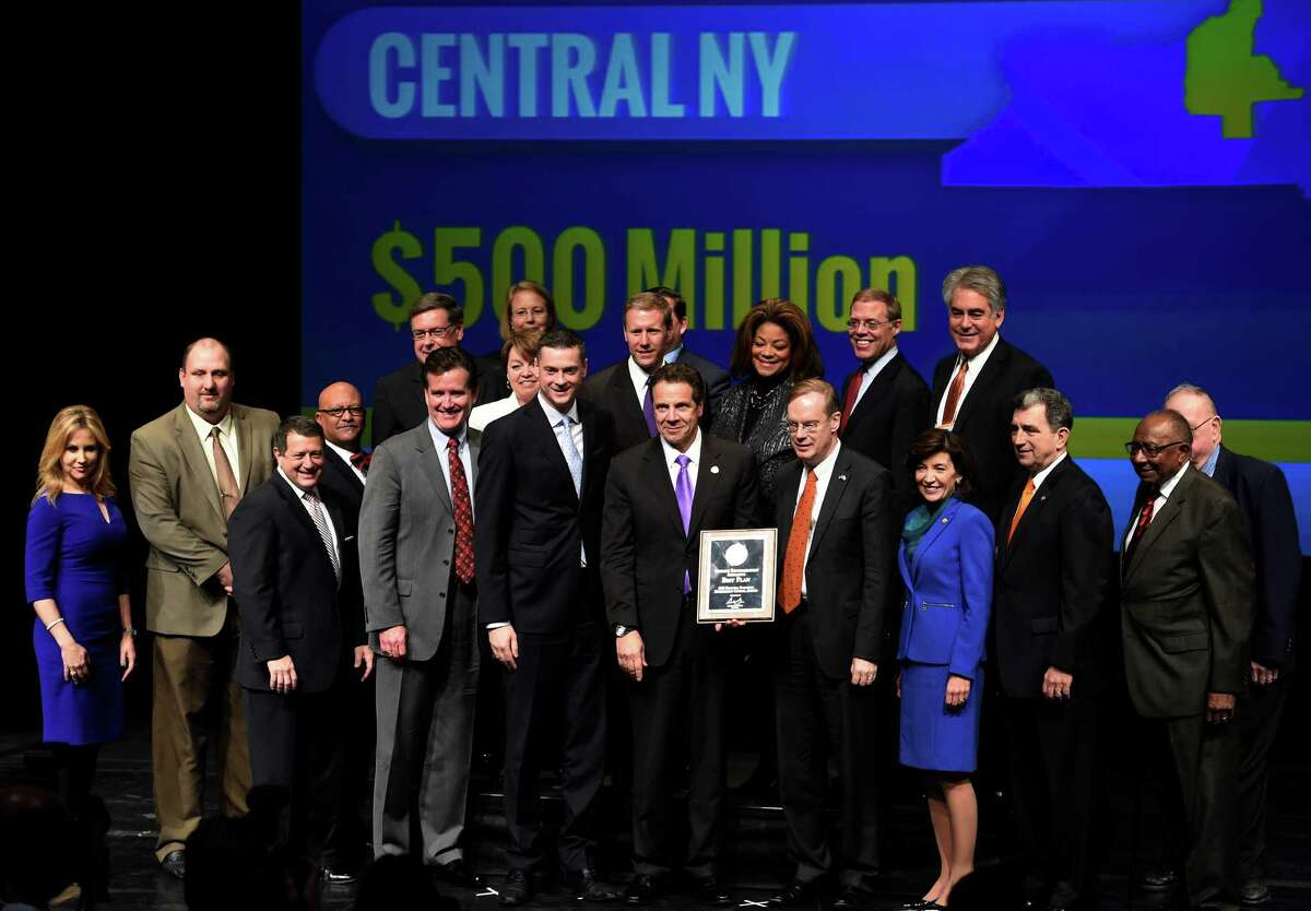 The Central New York Region were big winners at the REDC awards Thursday afternoon Dec. 10, 2015 in Hart Theatre on the Empire State Plaza in Albany, N.Y. (Skip Dickstein/Times Union)