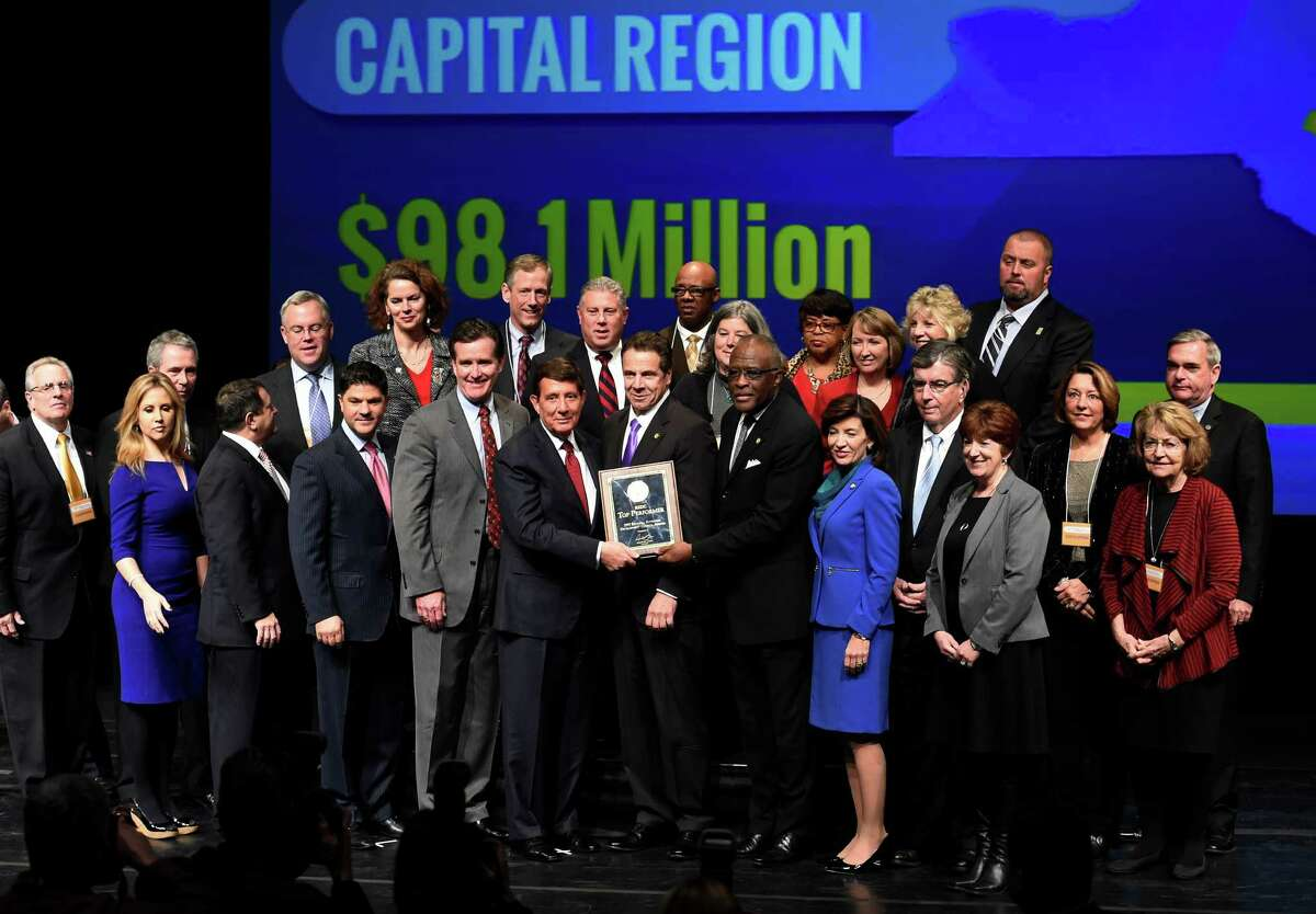 The Capital Region received $98.1 million at the REDC awards Thursday afternoon Dec. 10, 2015 in Hart Theatre on the Empire State Plaza in Albany, N.Y. (Skip Dickstein/Times Union)