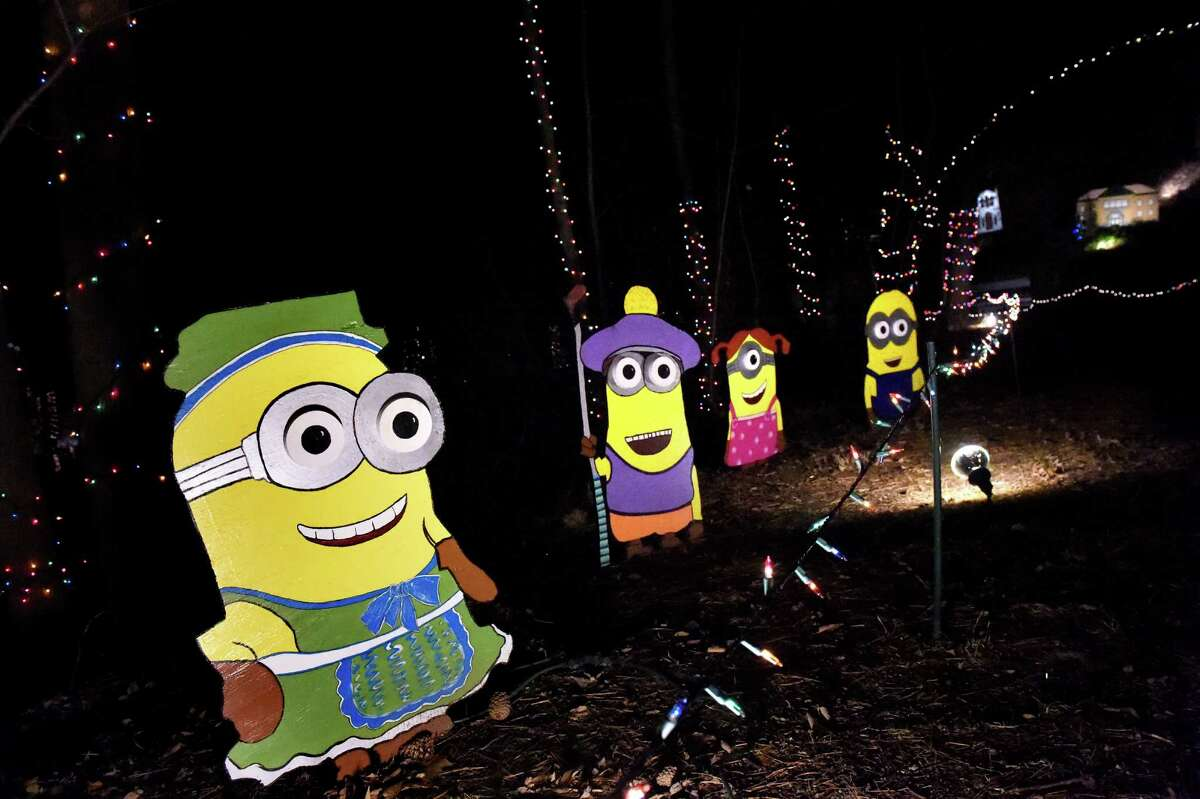 Minions on display in the 17th annual Light up the Sky with the Marching Rams holiday light display on Thursday, Dec. 10, 2015, at 154 Brookside Ave. in Amsterdam, N.Y. The show runs through Dec. 23 from 6:30 to 9 p.m., weather permitting. The cost is $5 per vehicle with all proceeds benefitting the Amsterdam High marching band. (Cindy Schultz / Times Union)