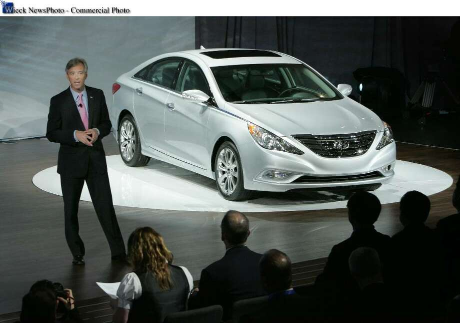 New York - March 31, 2010 - Hyundai Motor America President and CEO John Krafcik debuted the 2.0-liter Theta II turbocharged gasoline direct-injection (GDI) engine in the 2011 Sonata 2.0T at the New York International Auto Show today.  With the addition of the all-new turbocharged engine, the new 2011 Sonata lineup now includes a second, even more powerful engine, delivering best-in-class horsepower and fuel economy.  On sale later this year, Sonata 2.0T offers an unprecedented, segment-leading 274 horsepower and a 34 mpg highway rating. (Joe Wilssens photo) For more information contact Miles Johnson at 714-336-1048. Photo: Hyundai, WPD / © 2010 Hyundai Motor America