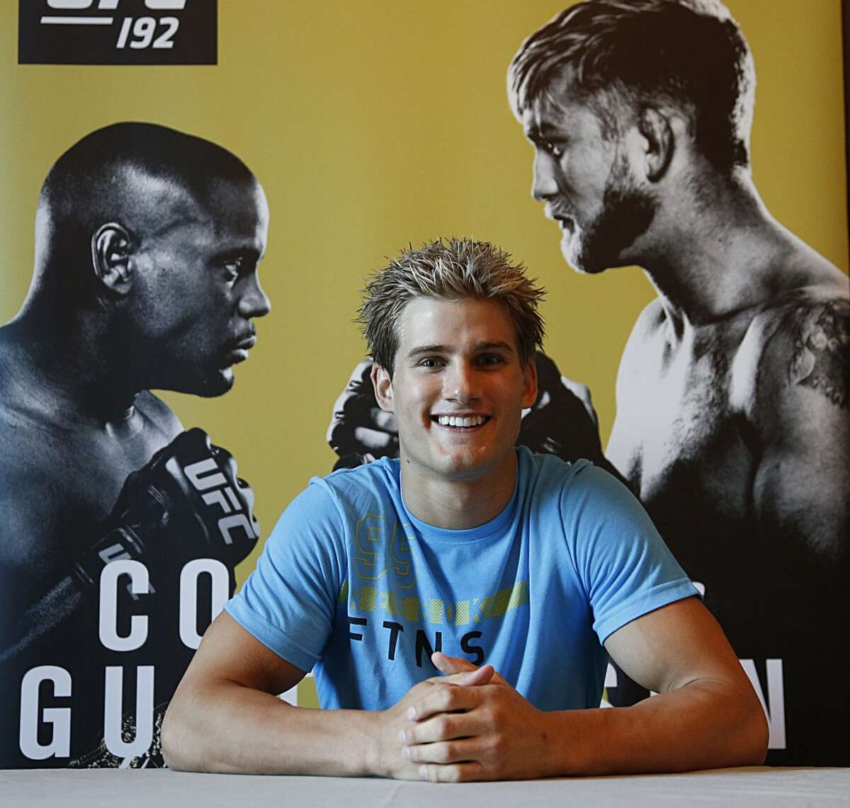 UFC fighter Sage Northcutt poses for a portrait after workouts at the Westin Houston Memorial City for Saturday's UFC 192 Wednesday, Sept. 30, 2015, in Houston. ( James Nielsen / Houston Chronicle )