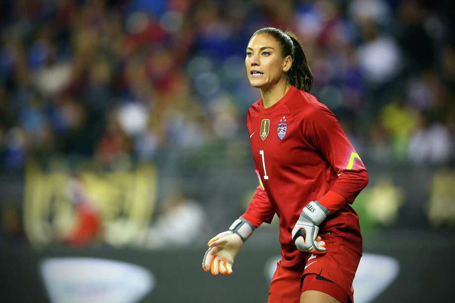 Hope Solo defends the goal during the second half of the U.S. Women's National Team exhibition game against Brazil at CenturyLink Field, Wednesday, Oct. 21, 2015. The game ended in a 1-1 tie. (Genna Martin, seattlepi.com) Photo: GENNA MARTIN, MBO / SEATTLEPI.COM / SEATTLEPI.COM