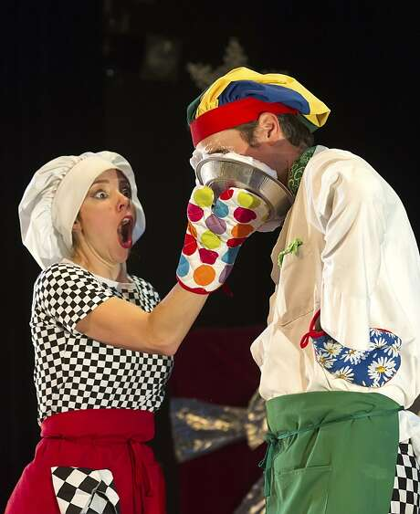 "Natasha Kaluza (left) and Jamie Coventry are the clown duo Coventry & Kaluza. They headline ""Mittens and Mistletoe: A Winter Circus Cabaret"" at Dance Mission Theater. Photo: Shoot That Klown"