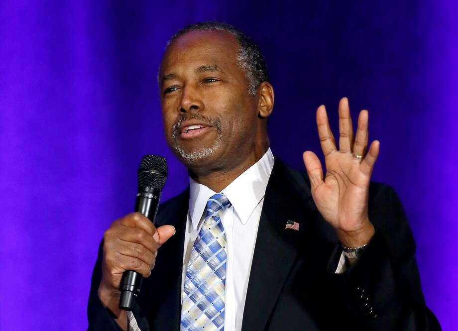 In this photo taken Dec. 4, 2015, Republican Presidential candidate Dr. Ben Carson speaks in Phoenix. Carson threatens to leave the Republican Party and run as an independent.  (AP Photo/Matt York) Photo: Matt York, Associated Press