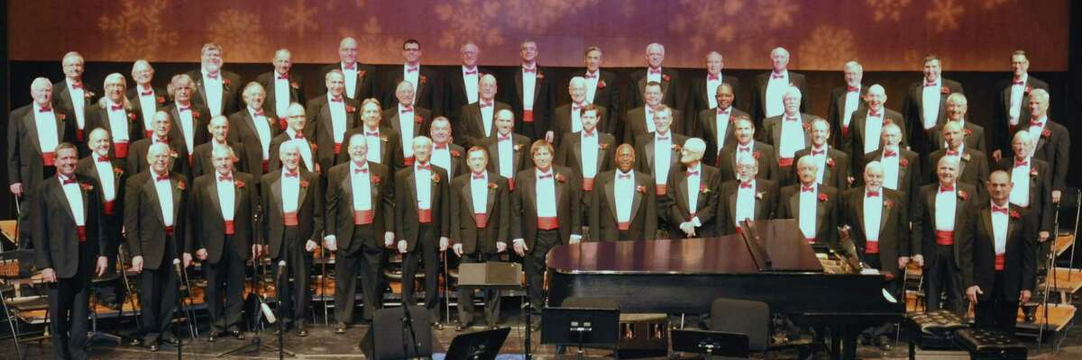 Gary Oliver, second from right in second row, sang baritone in the Mendelssohn Club, a 60-member male chorus established in 1909. (Photo courtesy of the Mendelssohn Club)
