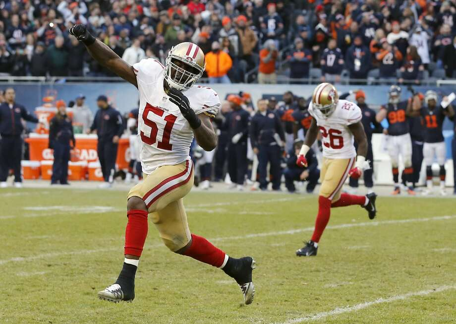 49ers middle linebacker Gerald Hodges had six tackles against the Bears last Sunday. He'll start against the Browns. Photo: Charles Rex Arbogast, Associated Press