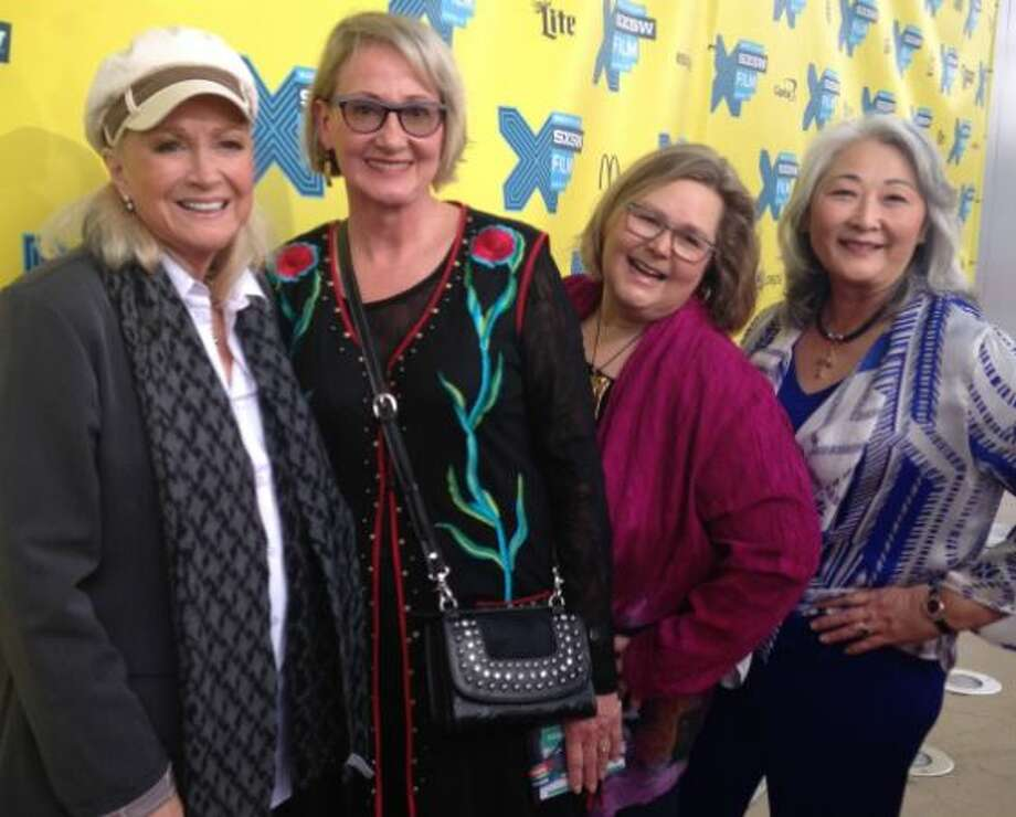 """At the SXSW premiere of """"I Dream Too Much"""": Diane Ladd, Deborah Kainer, Alicia Goodrow, and Donna Cole. Photo: Pantheon Of Women"""