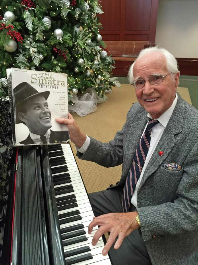 """Greenwich resident and artist Joe """"Butch"""" DeLuca performing the songs of Sinatra at the Greenwich Hospital on Thursday afternoon. Photo: Contributed / Contributed Photo / Greenwich Time Contributed"""
