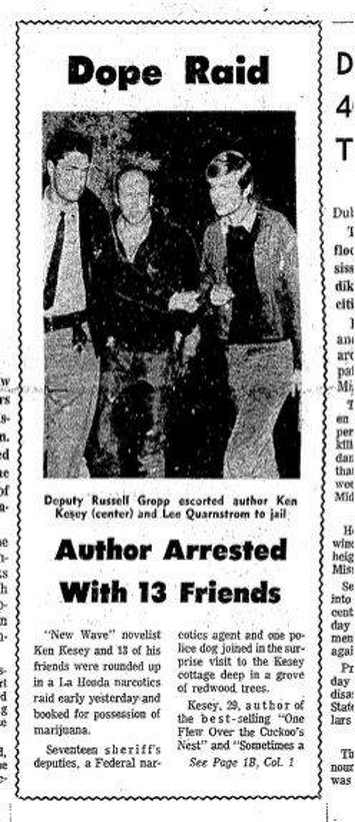 Ken Kesey busted at his La Honda home 04/24/1967