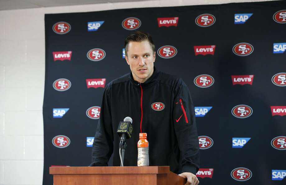 Quarterback Blaine Gabbert said he feels more comfortable each day as he gets more repetitions in the 49ers offense. Photo: Charles Rex Arbogast, Associated Press