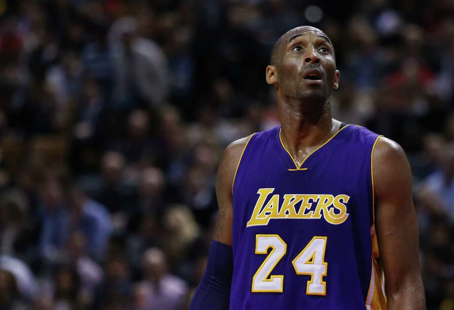 Lakers star Kobe Bryant makes his next-to-last appearance at Toyota Center on Saturday night, and he will have fans on and off the court in attendance. Photo: Vaughn Ridley, Stringer / 2015 Getty Images