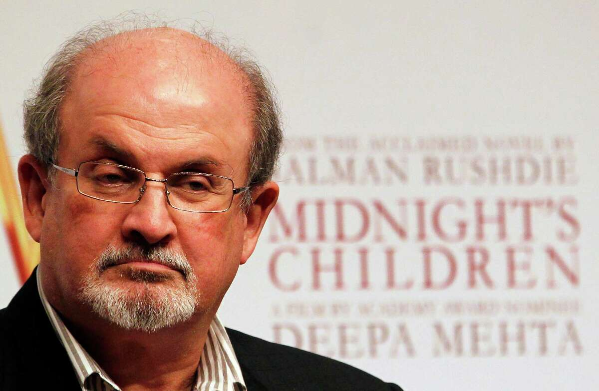 FILE - In this Jan. 29 , 2013, file photo, author Salman Rushdie attends a promotional event of ?