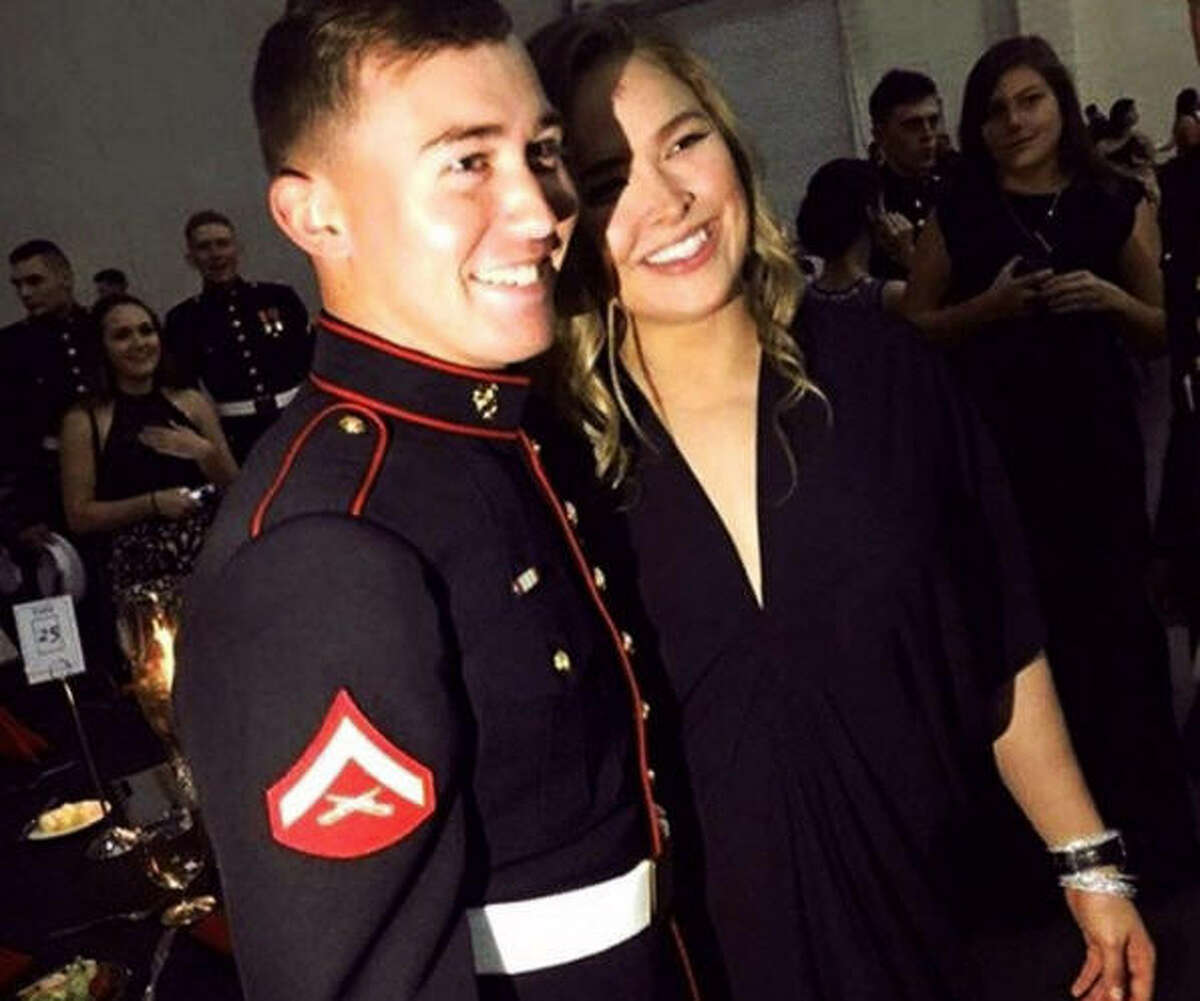 Ronda Rousey kept her promise and attended the Marine Corps Ball with Jarrod Haschert on Friday night in South Carolina.