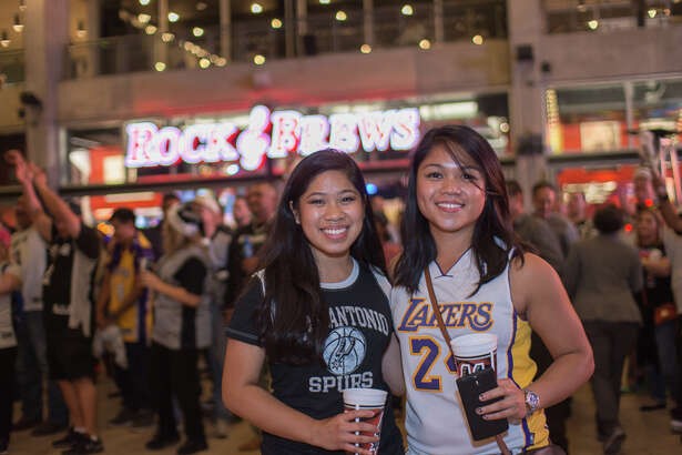 Spurs fans sent Laker Kobe Bryant out in style in one of his final visits to S.A. Friday night by cheering on the Spurs as they blew out the Lakers by 22 points. And then there was rock legends Gene Simmons and Paul Stanley who stopped by for the opening of their new restaurant at the AT&T Center.