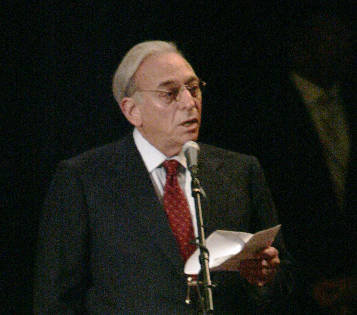FILE - In this Aug. 16, 2006 file photo, Nelson Peltz addresses Heinz shareholders during the annual meeting in Pittsburgh. Trian Fund Management, run by Peltz, who helped push DuPont and Dow together on Friday, Dec. 11, 2015, a year after he argued the 200-year-old DuPont should be broken up into two companies. (AP Photo/Keith Srakocic, file) ORG XMIT: NY119