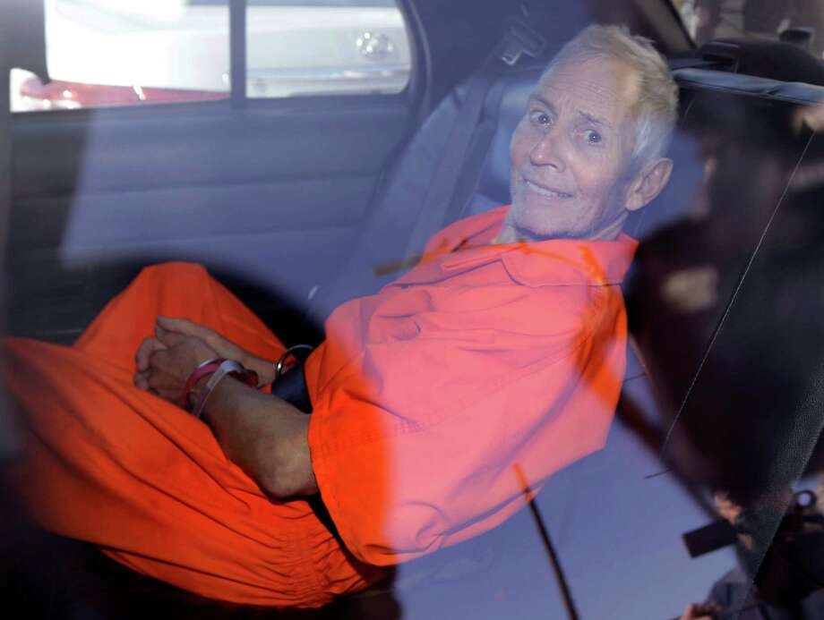 Robert Durst is transported from Orleans Parish Criminal District Court to the Orleans Parish Prison after his arraignment on murder charges in New Orleans on March 17. Photo: Gerald Herbert /Associated Press / AP