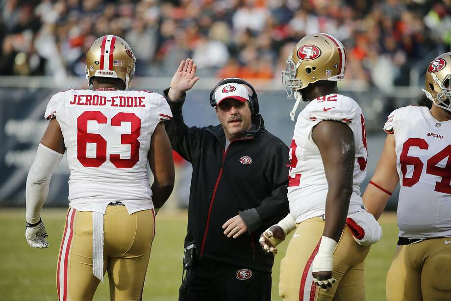 49ers head coach Jim Tomsula's modest success is giving the owners reasons to stay the course. Photo: Charles Rex Arbogast, Associated Press