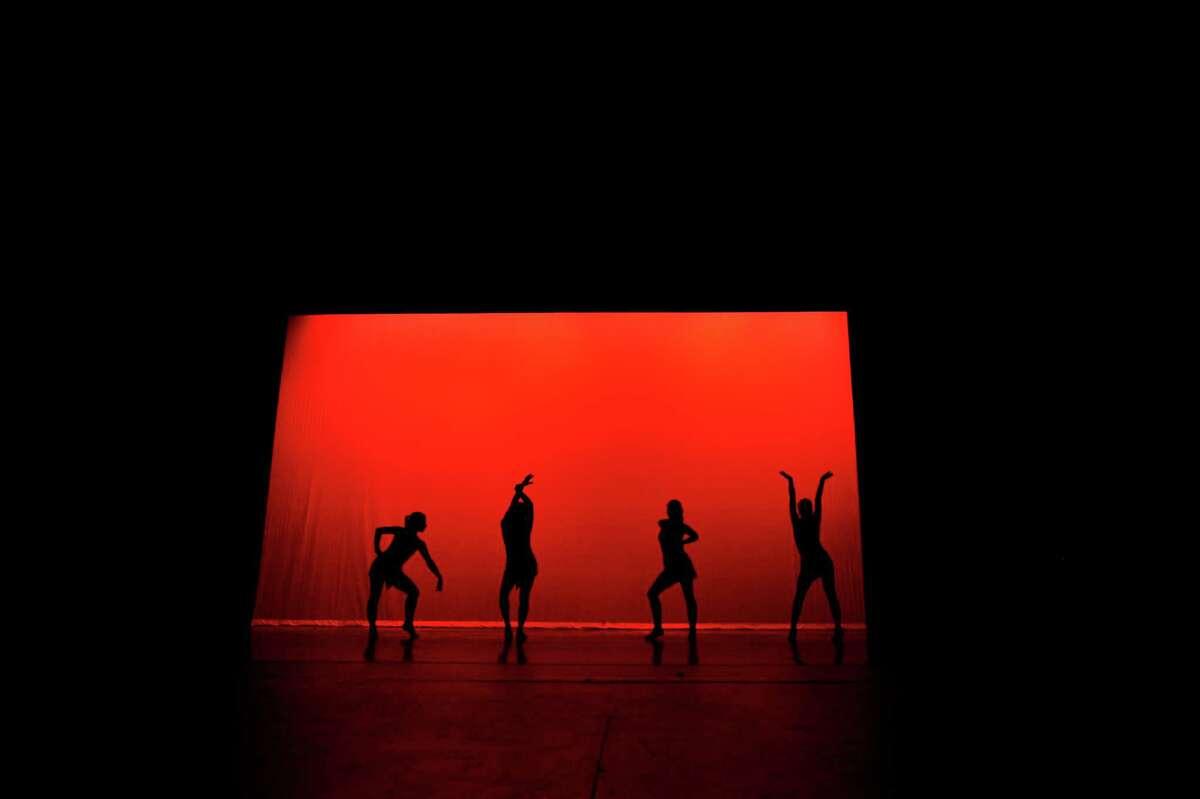 Dancers perform a run through of
