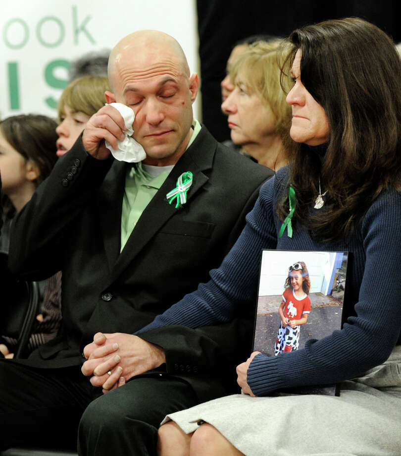 Jeremy Richman and Jennifer Hensel, parents of Avielle, one of the children killed in the Sandy Hook Elementary School shootings. Photo: Carol Kaliff / Hearst Connecticut Media / The News-Times