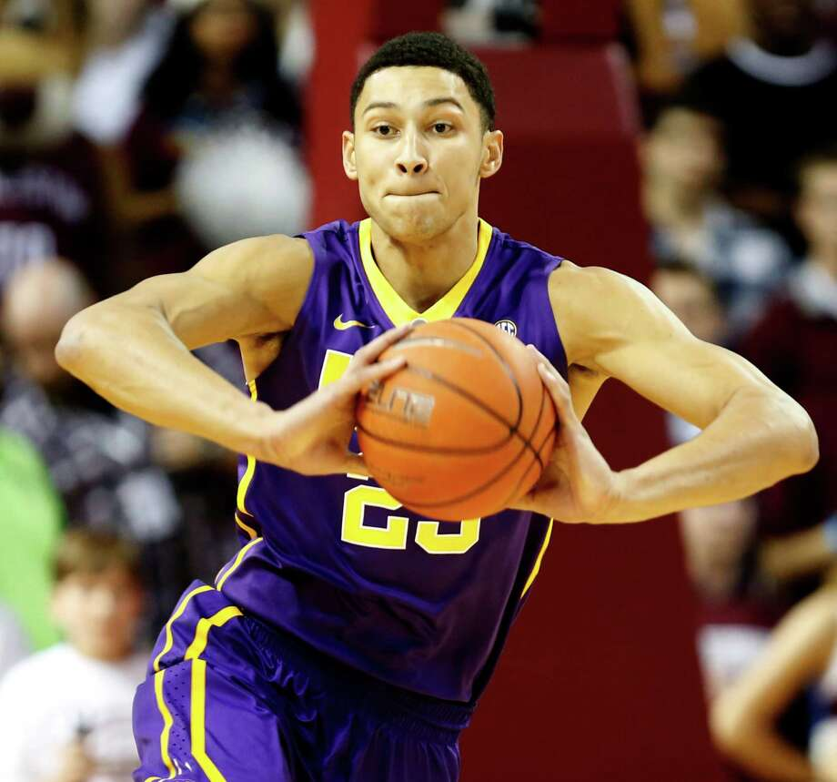 """LSU freshman sensation Ben Simmons is called """"the best passer I've ever played with - by far,"""" by senior Keith Hornsby. Simmons averages 20 points, 15 boards. Photo: Mic Smith, FRE / FR2  AP"""