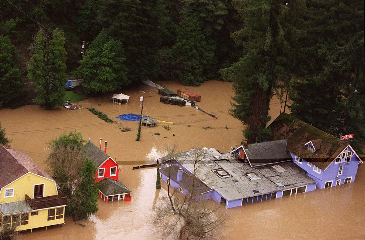 During the devastating winter of 1997-98, the Russian River flooded over its banks, inundating homes and a hotel in Monte Rio.