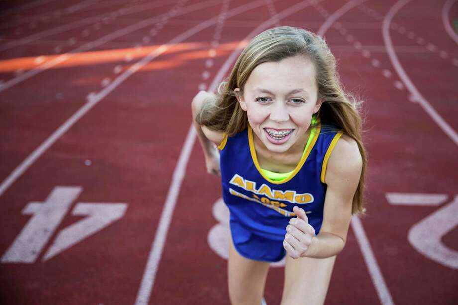 Abby Gray poses for a portrait at Alamo Heights High School in Alamo Heights, Texas on Dec. 8, 2015. Photo: Carolyn Van Houten /San Antonio Express-News / 2015 San Antonio Express-News