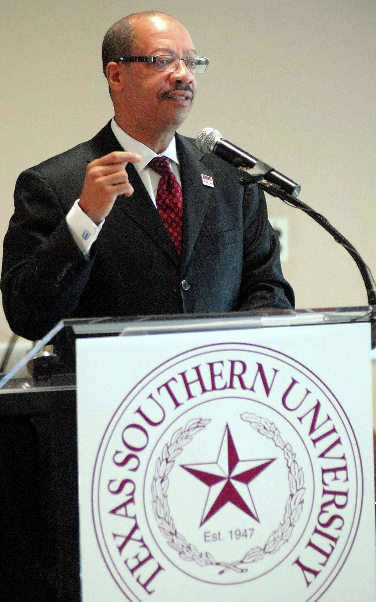 Texas Southern University president John Rudley will be stepping down in August 2016. Rudley is considering having another role at the university.