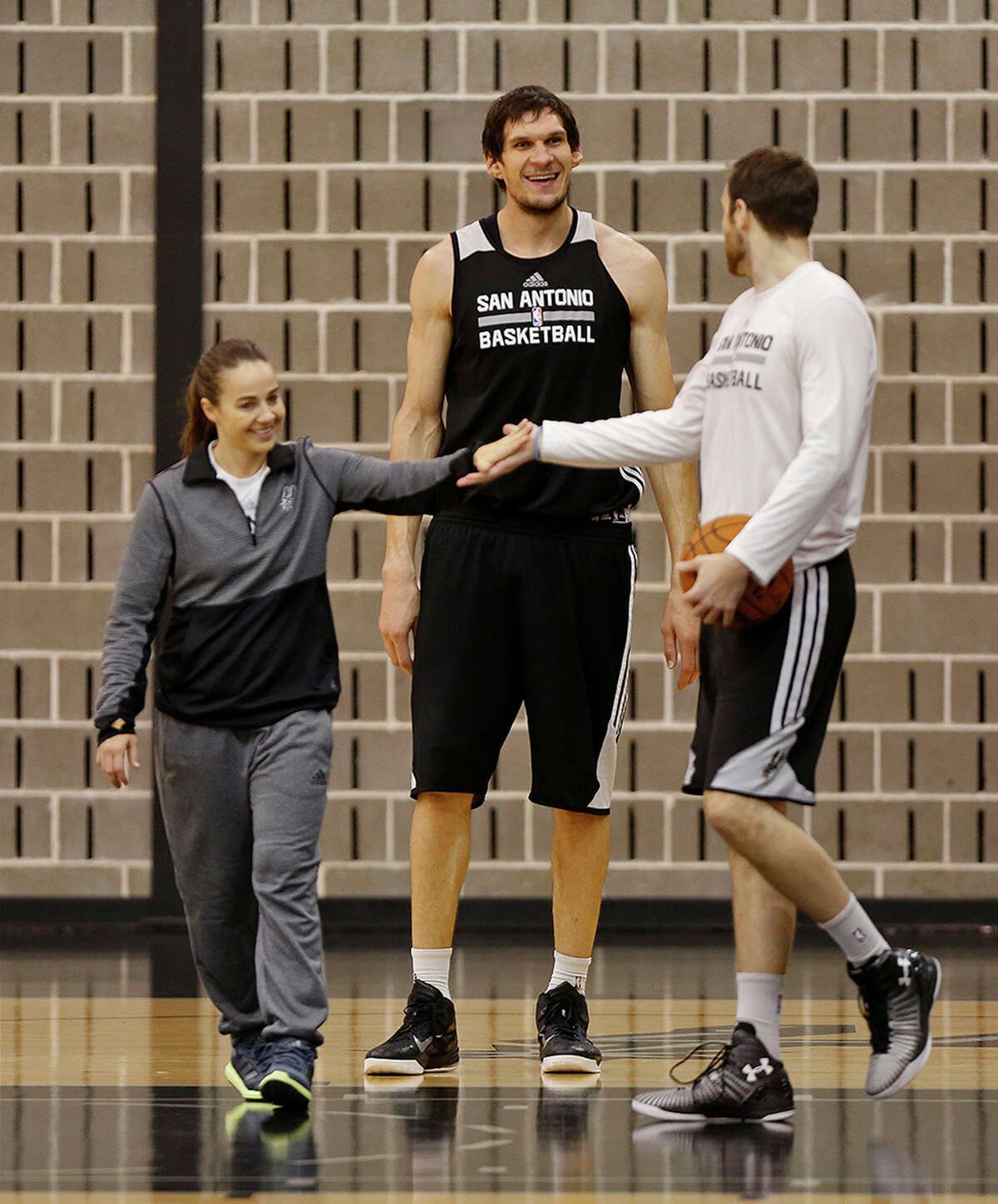 2. A man of massive proportions Marjanovic has enormous feet - size 19 shoe - and hands. His standing reach of 9-7 eclipses those of Yao Ming, Wilt Chamberlain and O'Neal, and his 7-8 wingspan would have placed him third in the NBA last season behind Utah's Rudy Gobert and New Orleans' Alexis Ajinca. Marjanovic is so tall that members of the Spurs' developmental squad that work with him have to hold up oars to simulate shot blockers